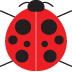 Lady Bug 1 inch square